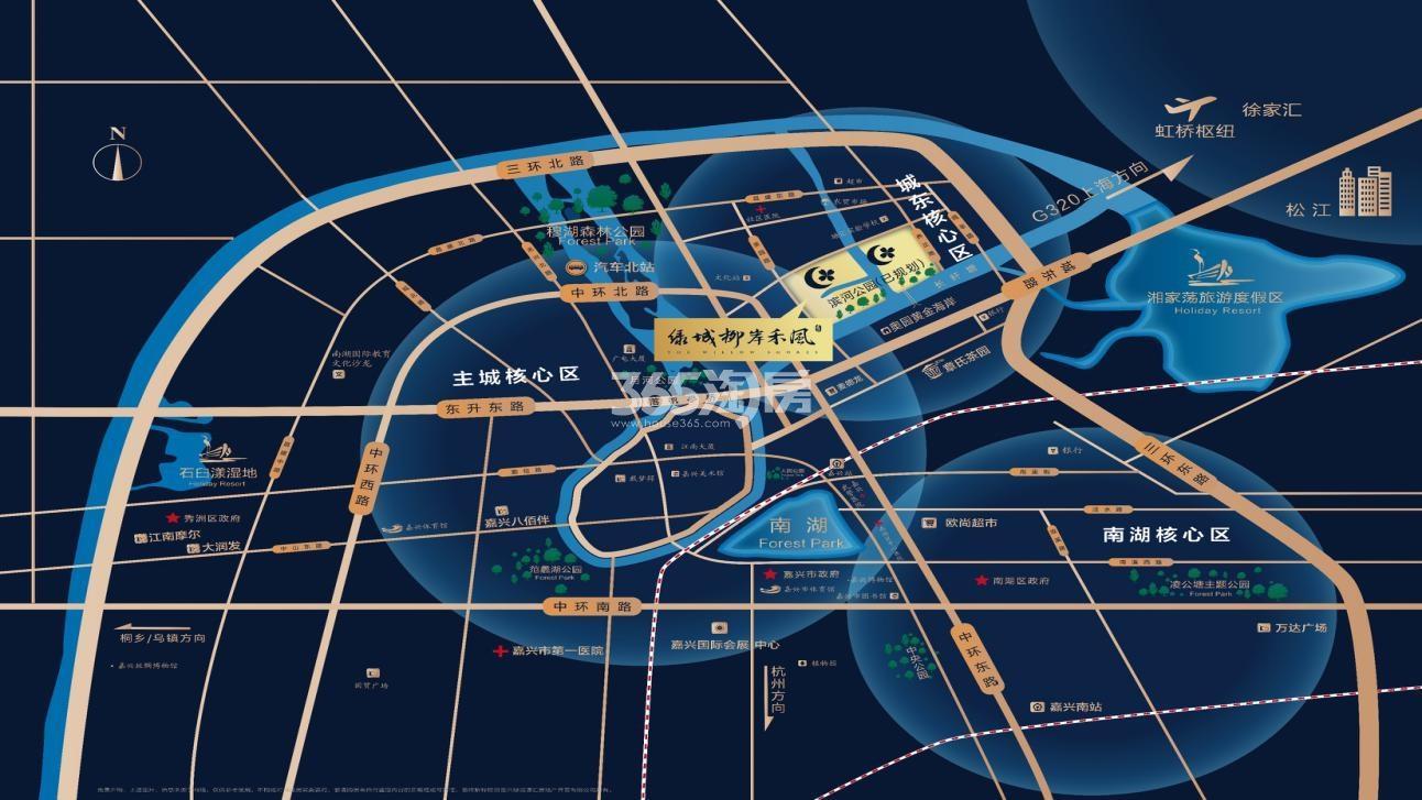 绿城·柳岸禾风交通图