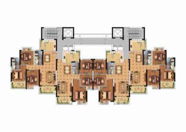 鹿园华府3室2厅2卫116平米毛坯产权房2018年建