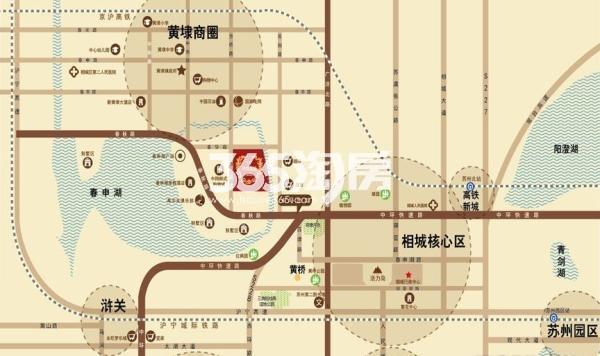 华宇锦绣花城交通图