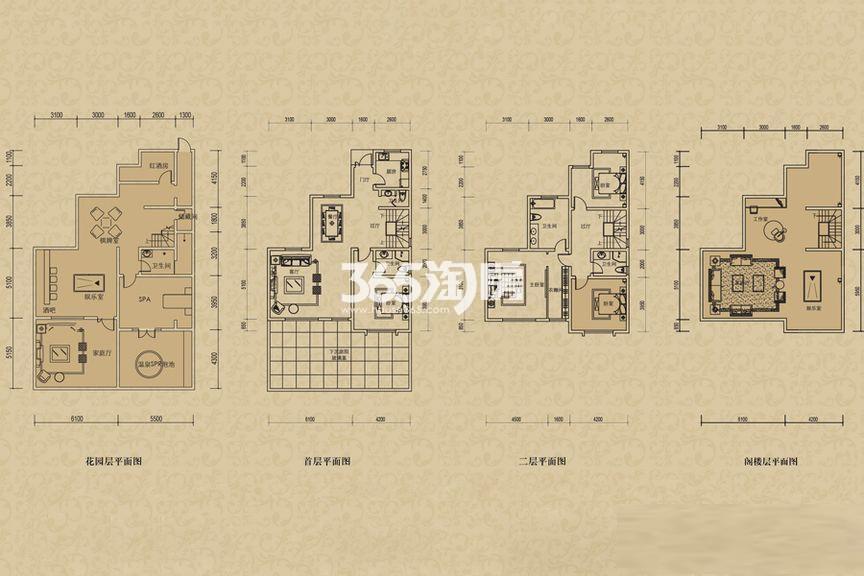 二期联排别墅B3n户型 3室2厅1厨2卫 192.00㎡