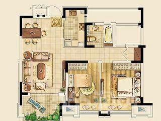 金东城世家2室2厅1卫97平米整租毛坯