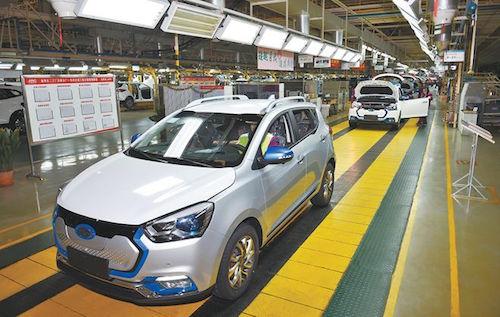 3月21日,江淮纯电动SUV--iEV7S汽车在批量下线. (资料图片)李高清图片