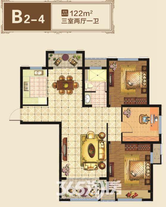 新华联铂悦府B2-4约122平户型图