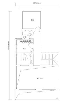 万科悦湾143㎡复式洋房二层户型