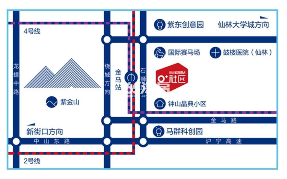 银城KinmaQ+社区交通图