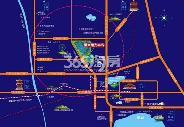 恒大阳光半岛交通图