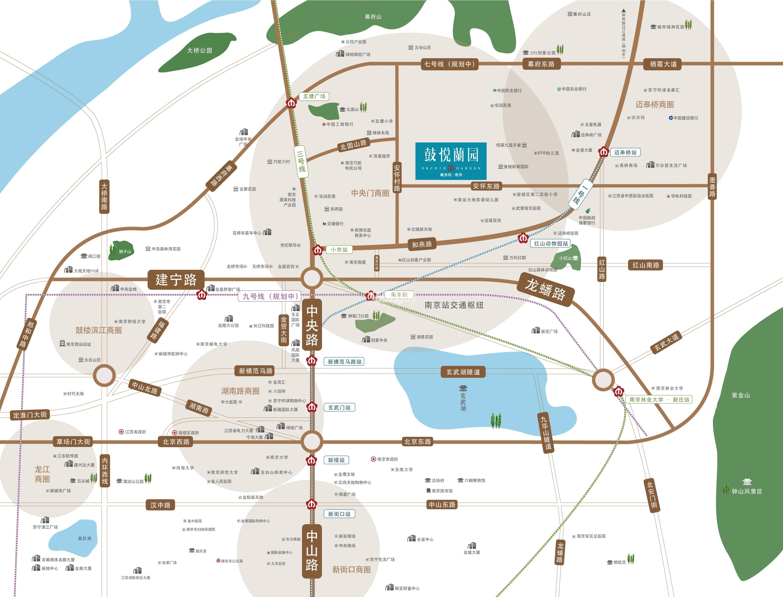 鼓悦蘭园交通图