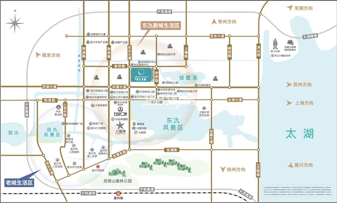 港龙湖光珑樾交通图