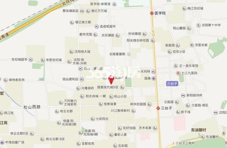 万科长江府交通图