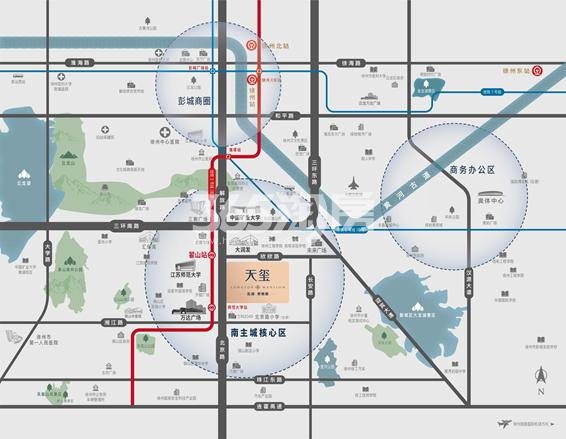 天玺交通图