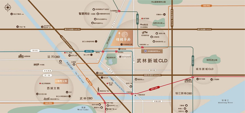 中冶锦绣华府交通图
