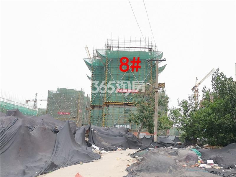 绿地理想城悦湖公馆在建8#楼实景图(6.25)