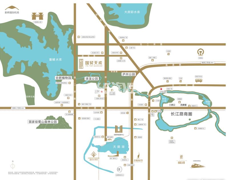 国贸天成交通图