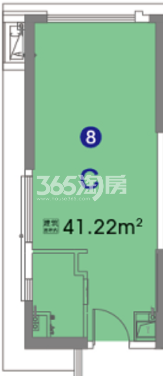 奥园瀚林银座 公寓C户型 41.22㎡