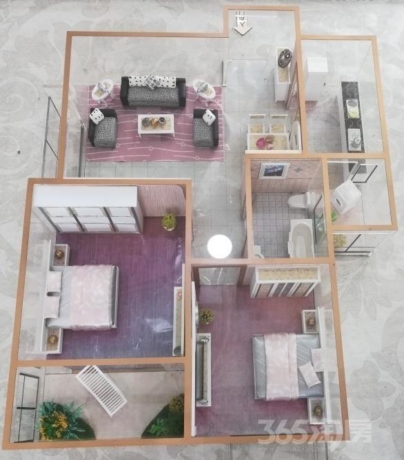 香林郡2室2厅1卫87平米2018年产权房毛坯