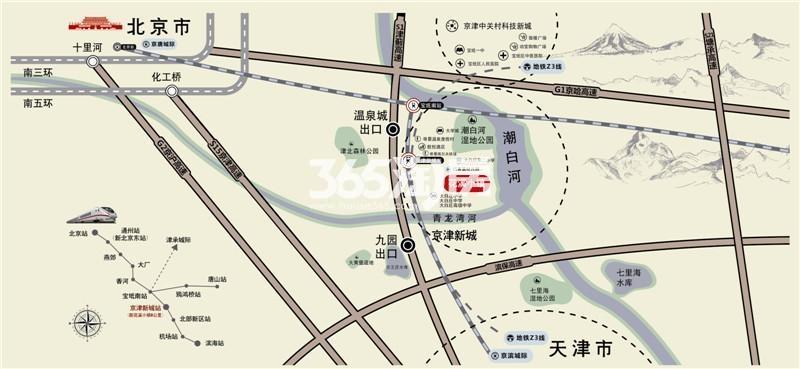 恒大花溪小镇交通图