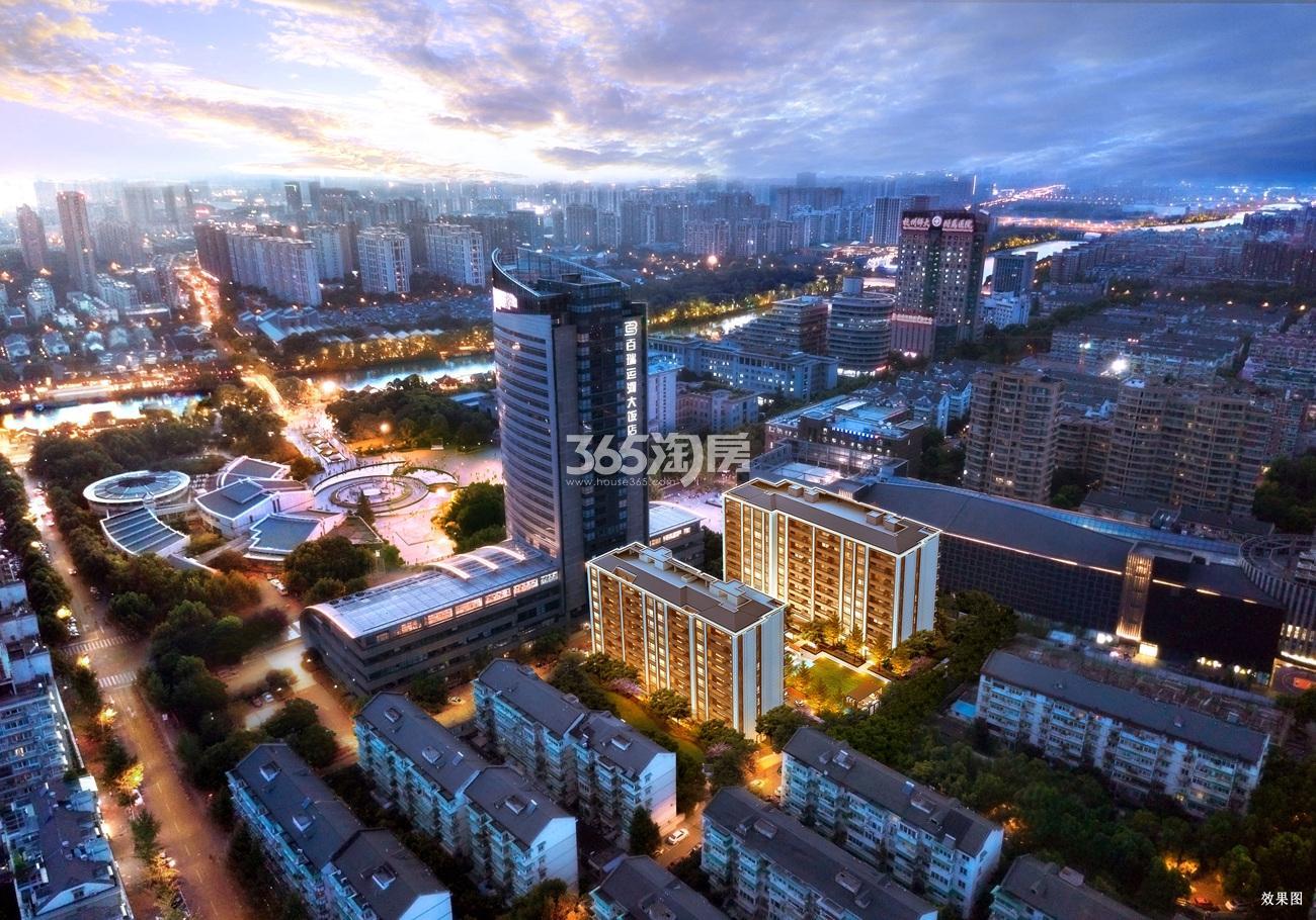 阳光城拱宸府鸟瞰图