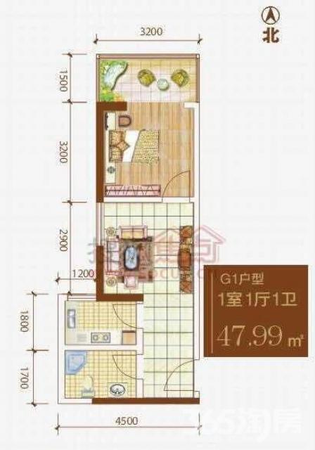 格兰逸境3室2厅2卫121.66平米2012年产权房毛坯