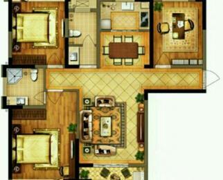 禹洲翡翠湖郡4室2厅2卫121平米整租中装