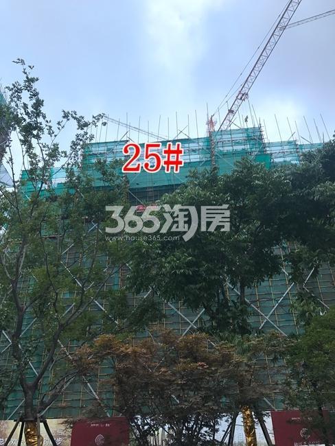 融创玉兰公馆25#建设进度实景图(6.28)