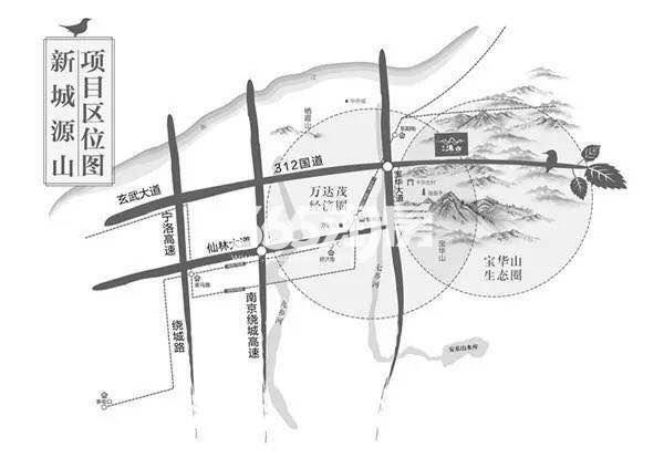新城源山交通图