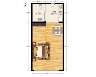 <font color=red>安邦公寓</font>1室1厅1卫36平米整租精装