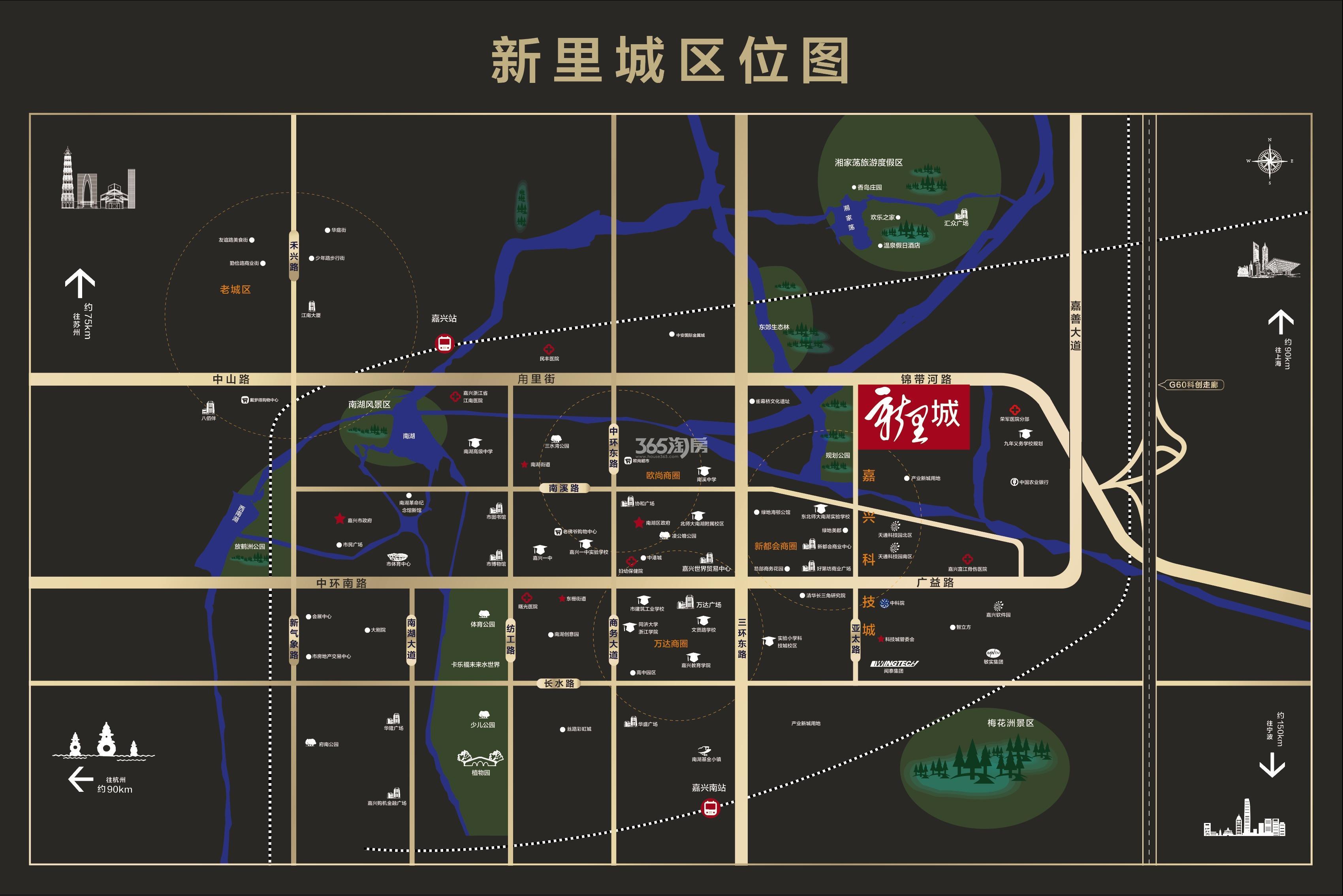 绿禾名邸交通图