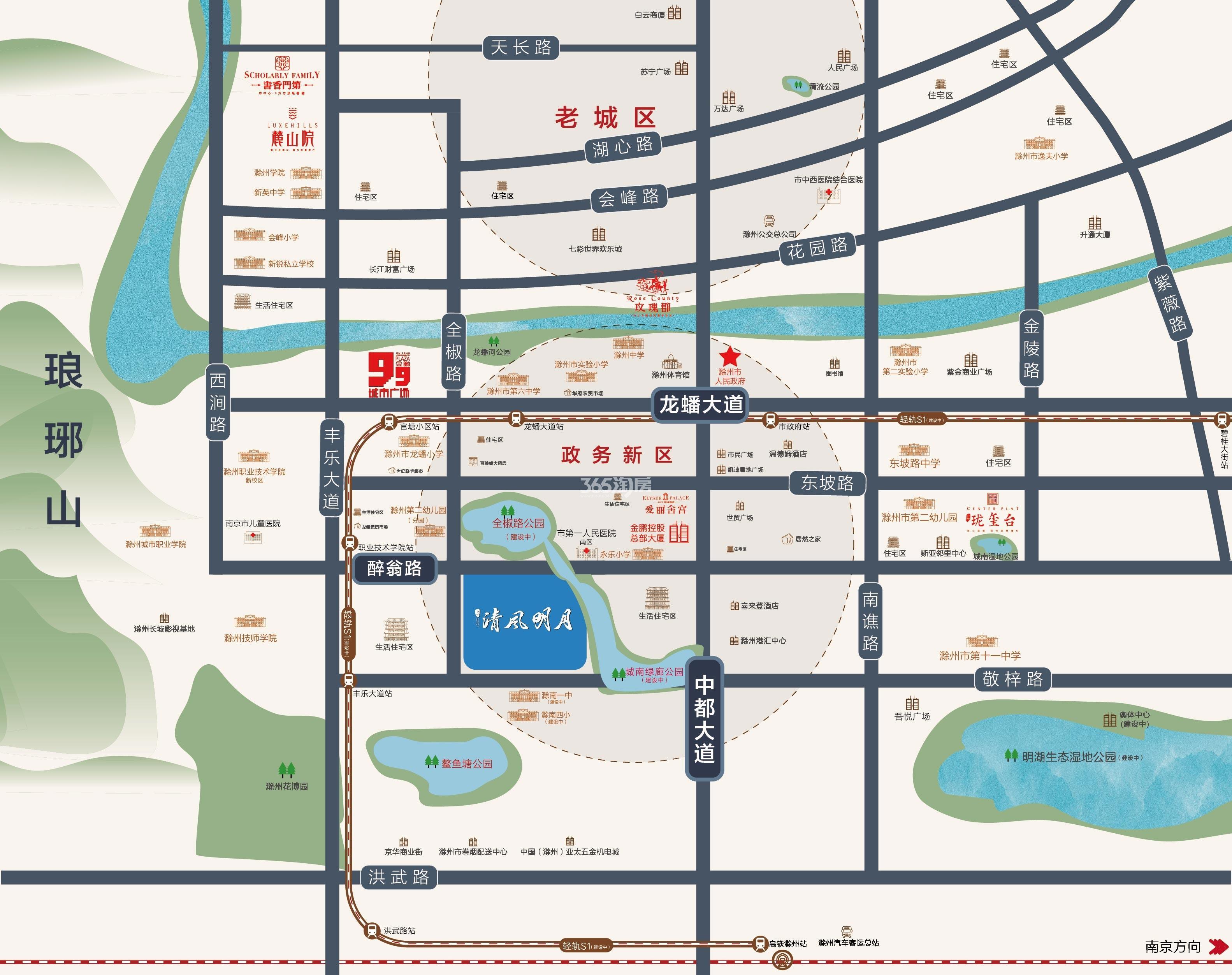 清风明月二期交通图