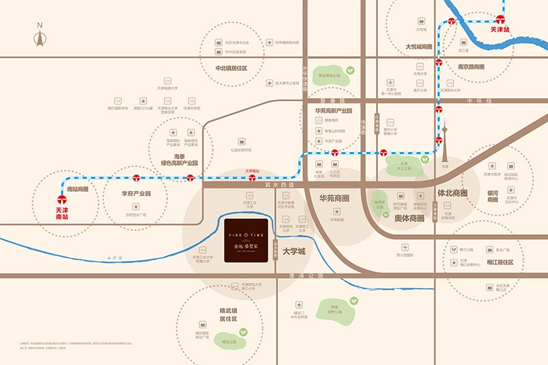 金地藝墅家交通图