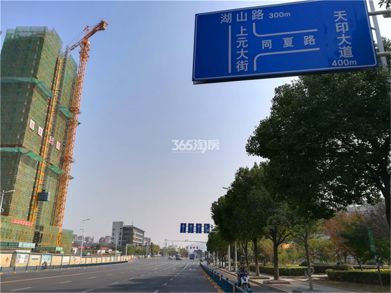 万科金域国际周边道路实景(9.17)