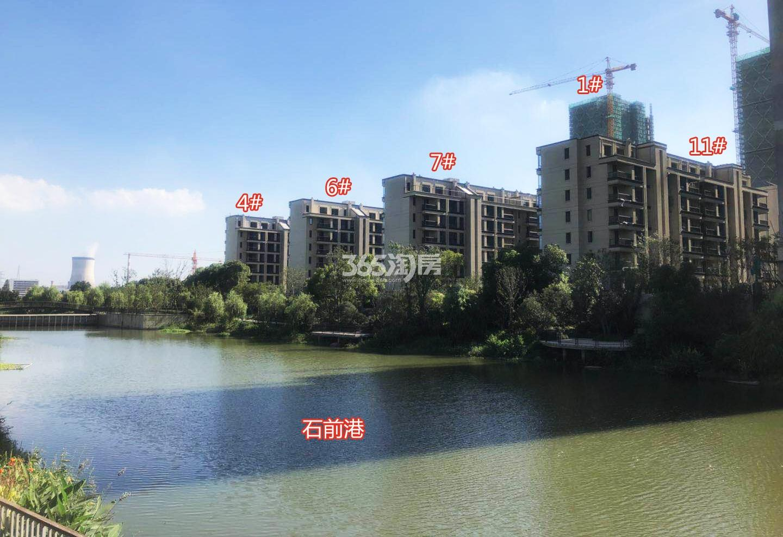 2018年7月荣安翡翠半岛洋房4、6、7、11及高层1号楼实景