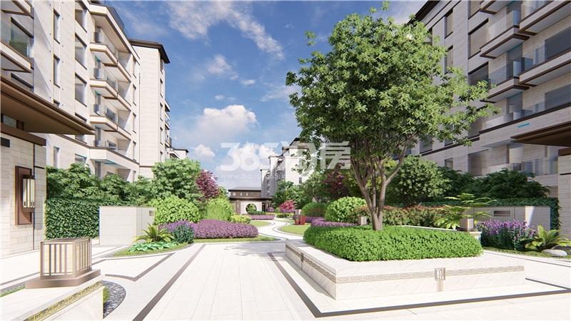 信达溪岸观邸低密度多层楼栋之间绿化效果图