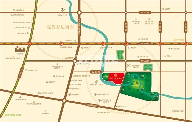信达溪岸观邸交通图