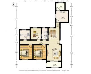 华润悦府3室2厅2卫155平米豪华装产权房2016年建