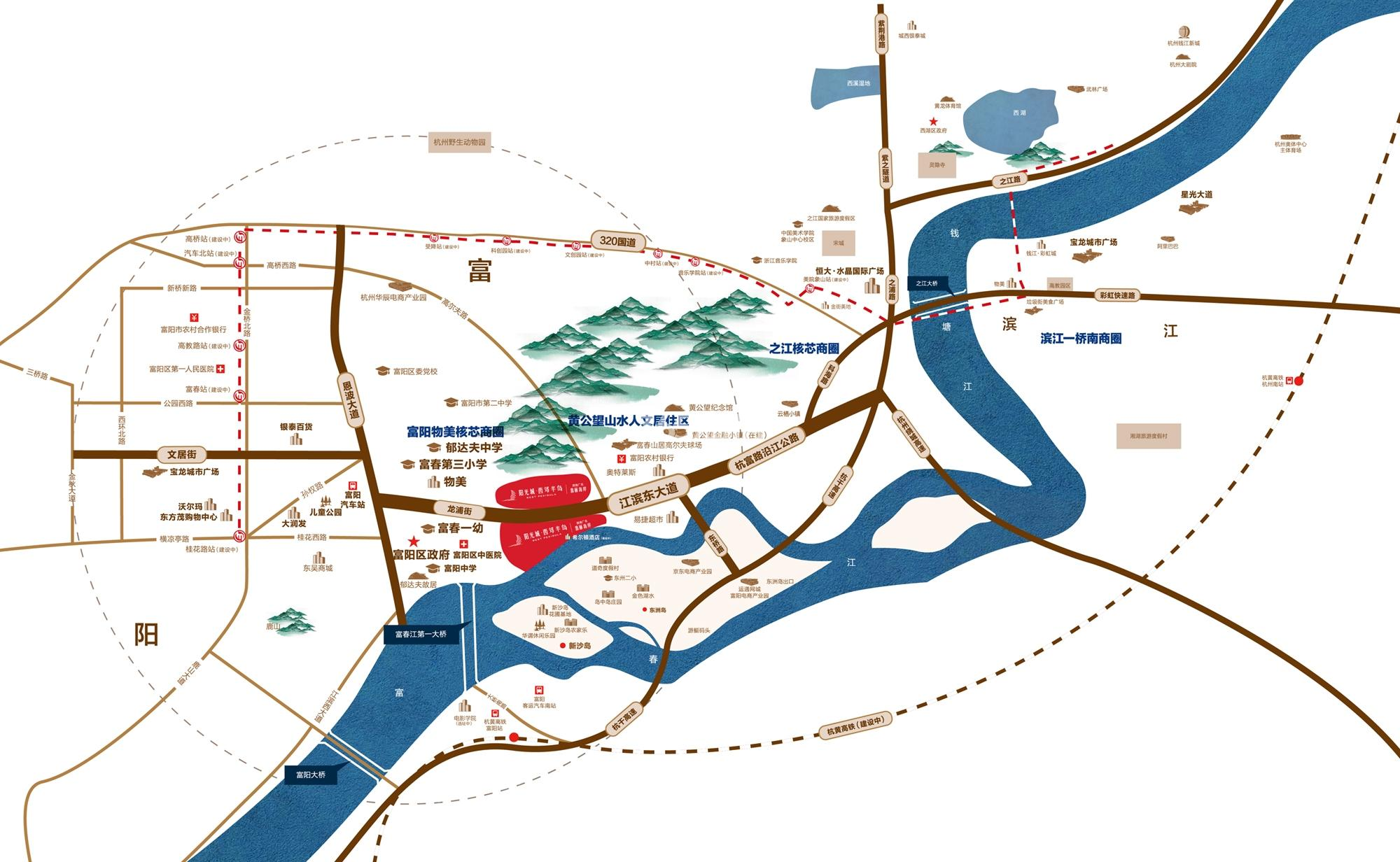 阳光城西郊半岛交通图