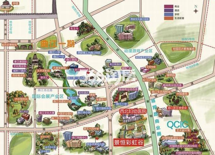 正荣彩虹谷交通图