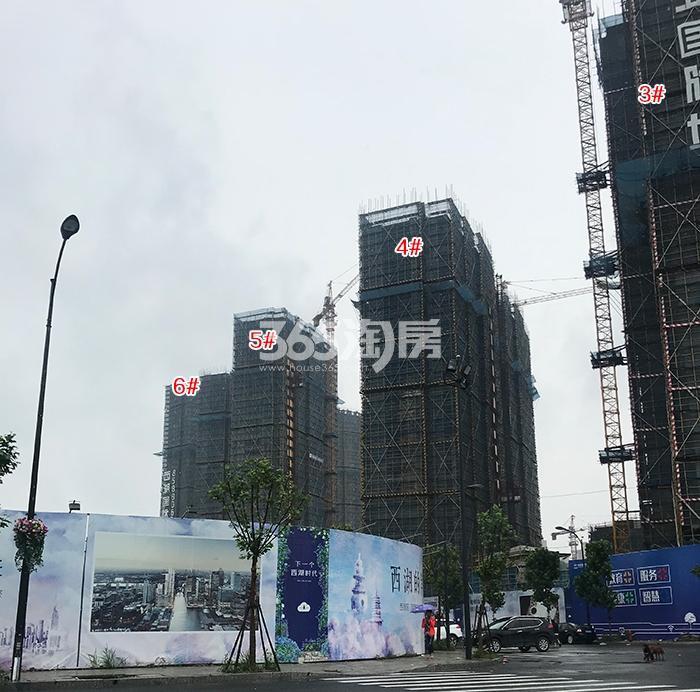 中国铁建西湖国际城3-6号楼施工进程(2018.5)