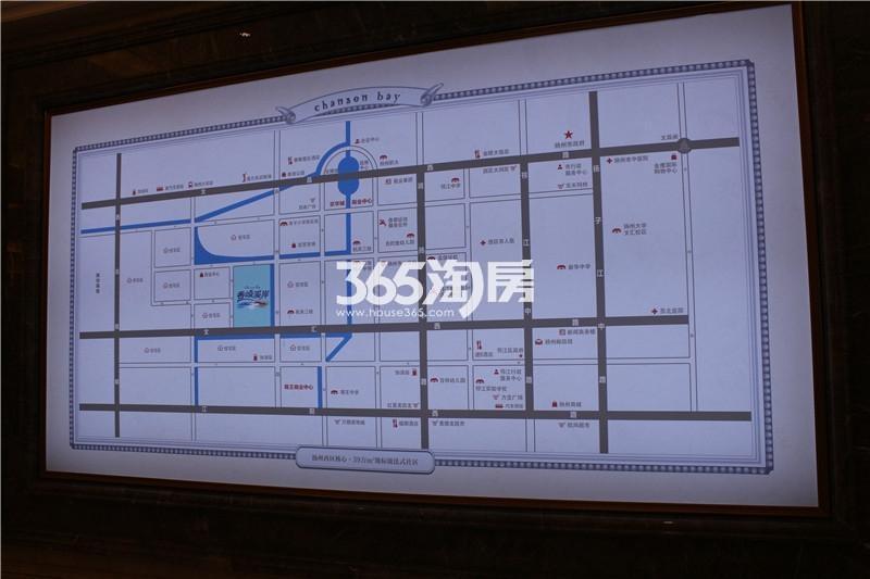 香颂溪岸交通图