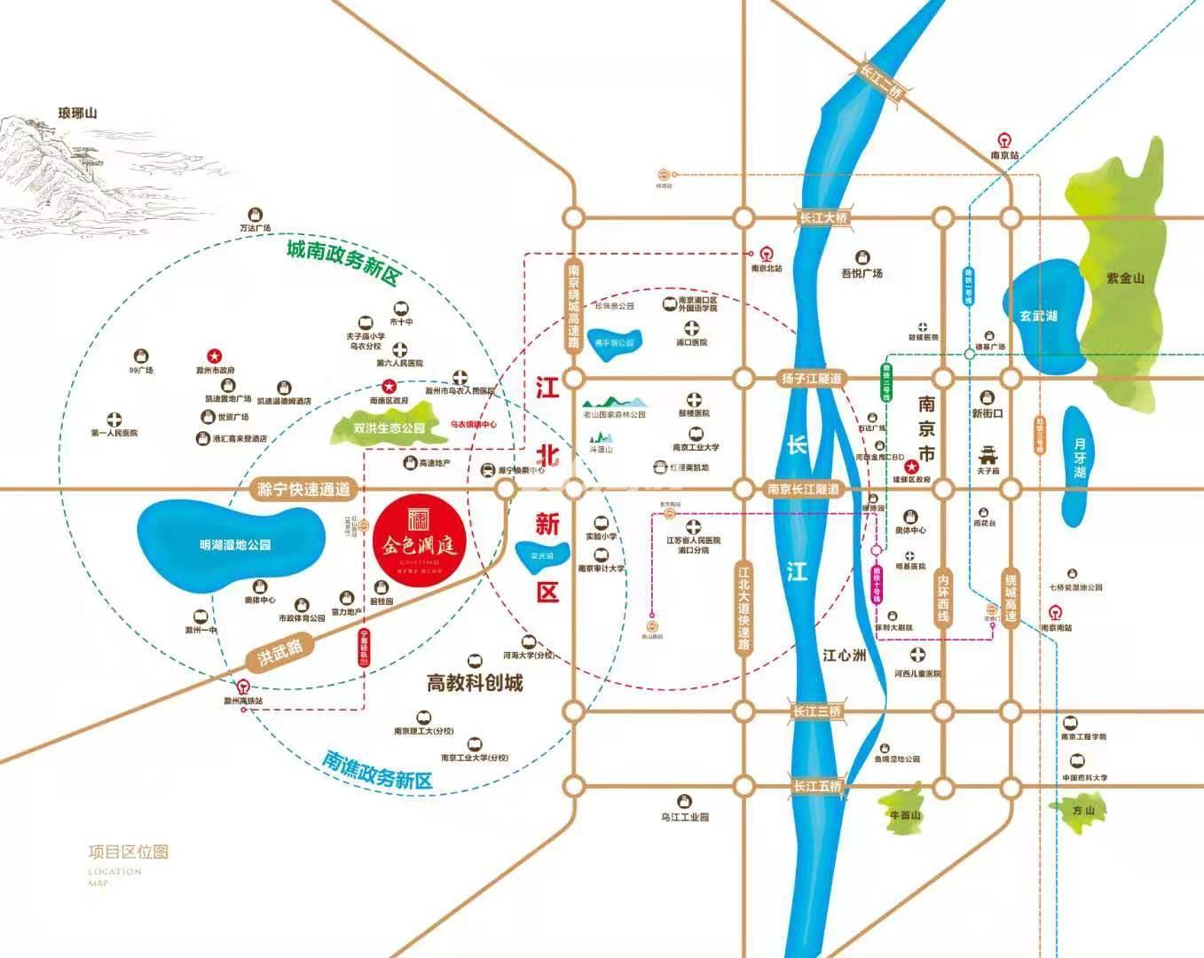 金色澜庭交通图