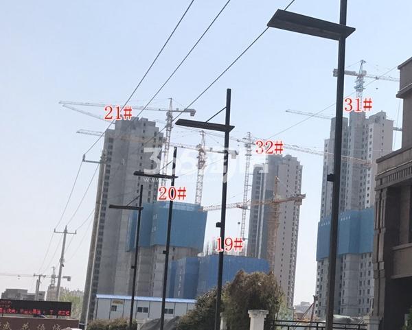 荣盛花语城二期高层在建实景 多栋已封顶(4.17)