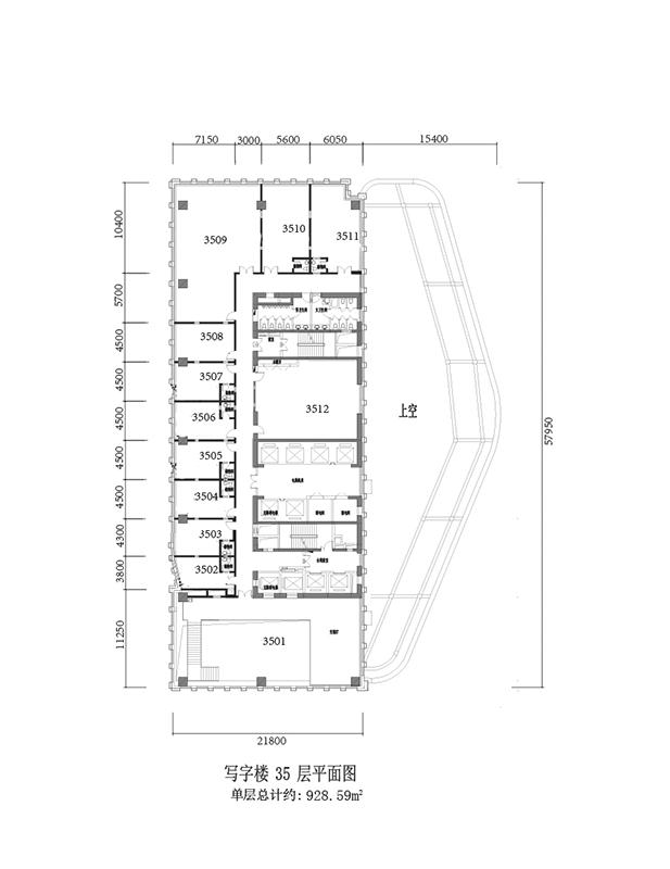 写字楼35层平面图