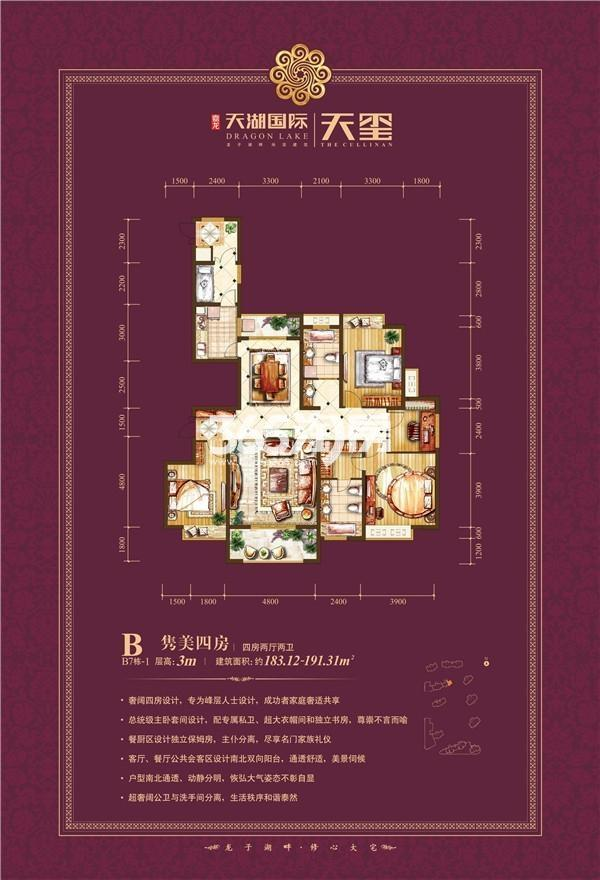 天湖国际户型图B7-1