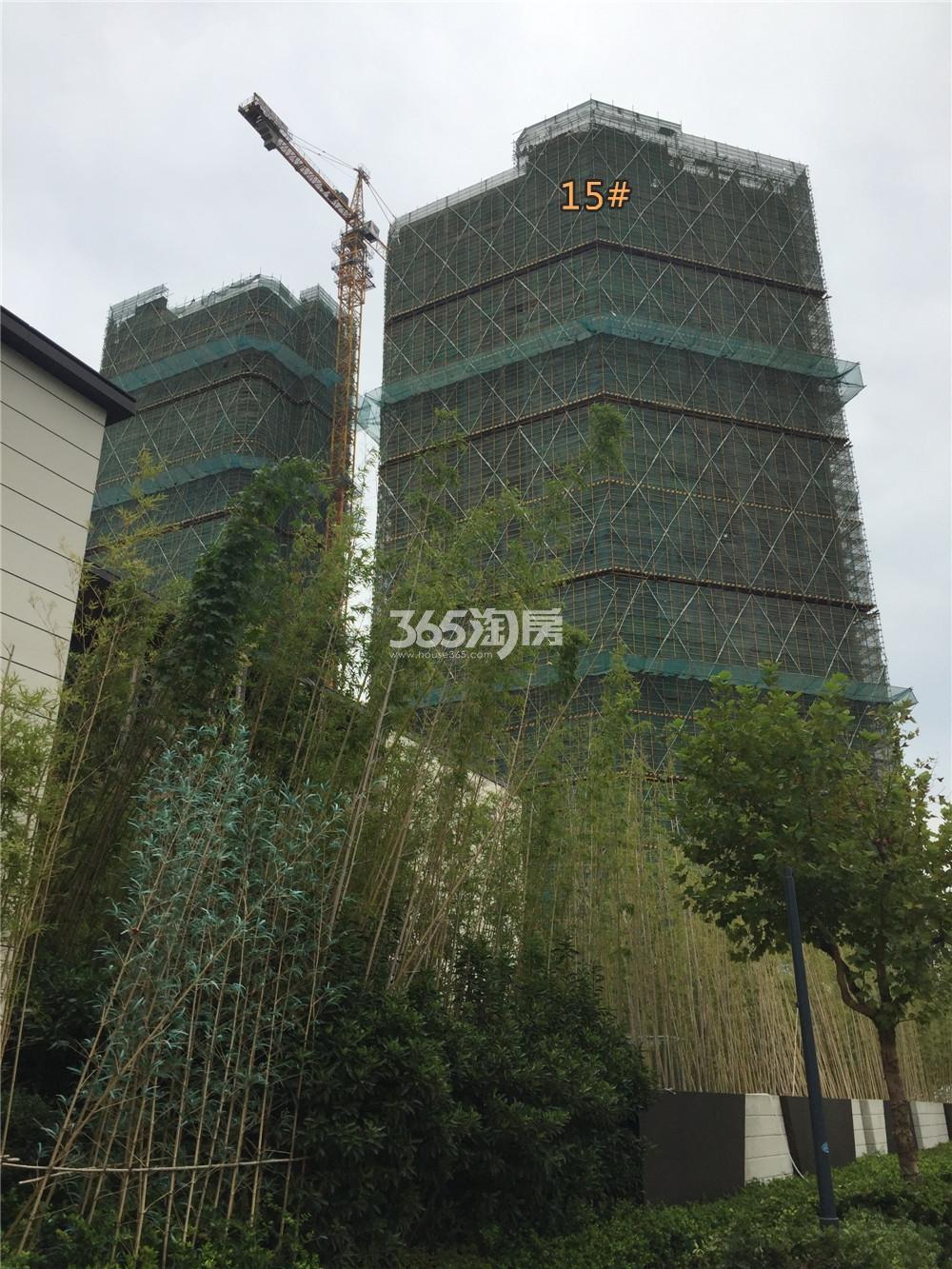 金地中心菁华15#在建实景图(9.11)