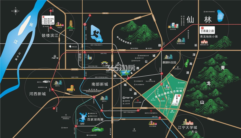深业青麓上居交通图
