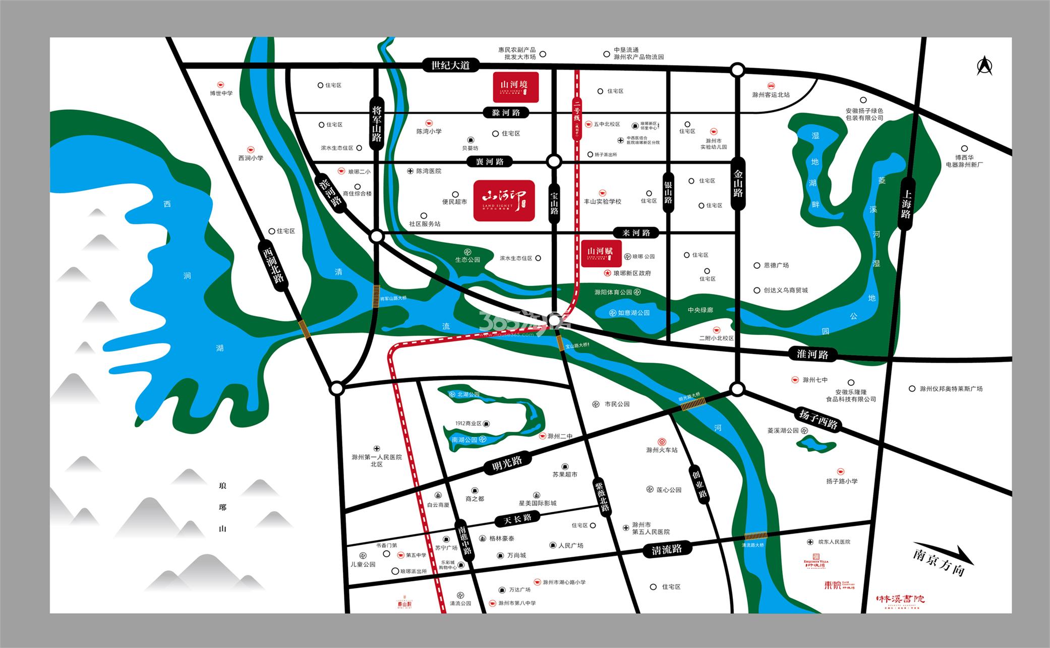 金鹏山河赋交通图