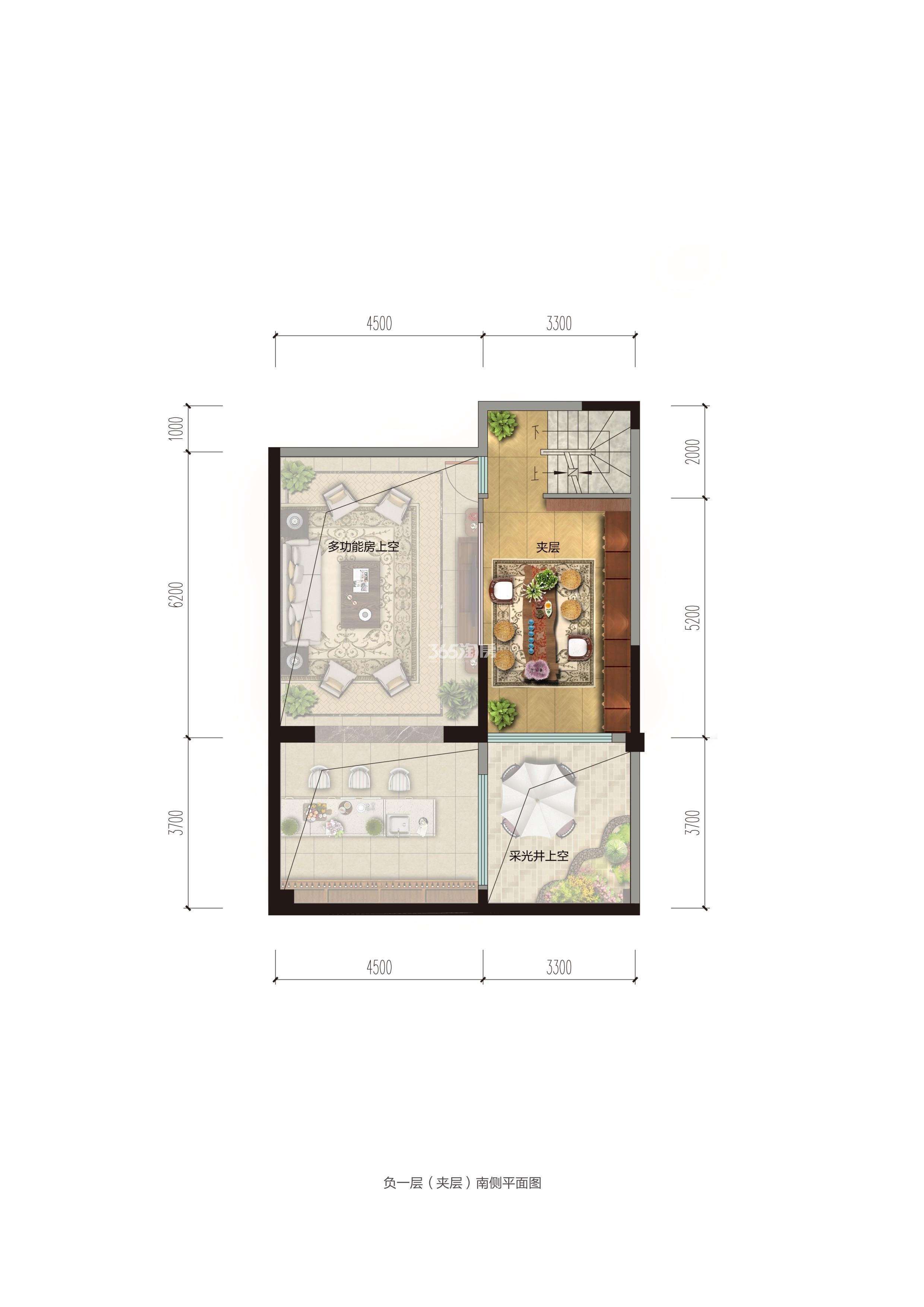 碧桂园香湖湾1号项目157-185㎡下叠(夹层)户型图