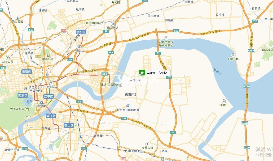 大江东宝龙广场交通图