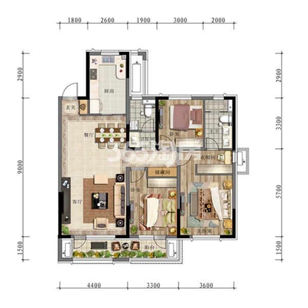 中海城项目户型图