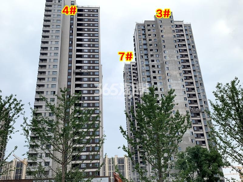 万科翡翠东方3#、4#、7#楼工程实景(2020.6.30摄)