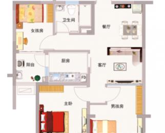 锡东碧桂园精装两室、方正格局三开间阳面、阳台飘窗引景入帘